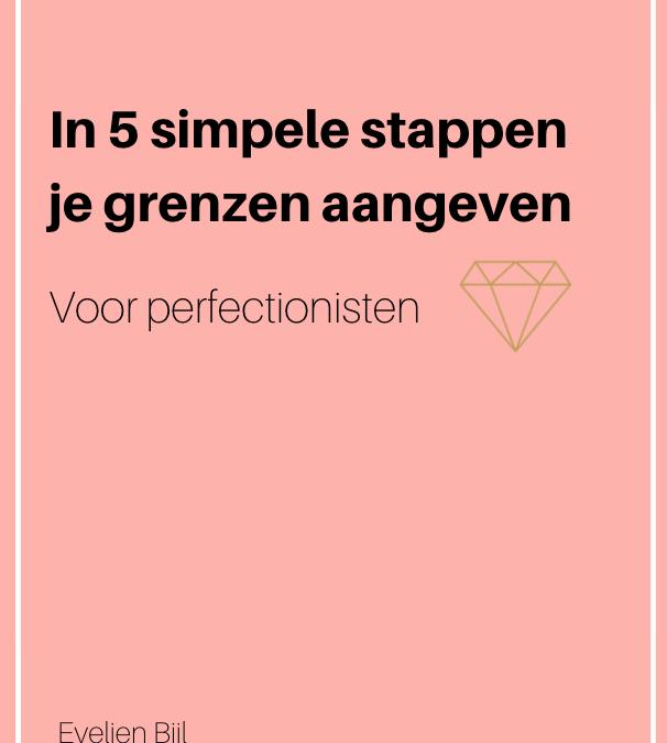 eBook: In 5 simpele stappen je grenzen aangeven – voor perfectionisten