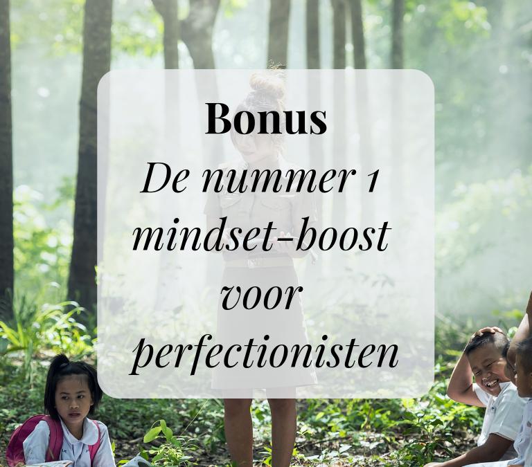 Bonus: De nummer 1 mindset-boost voor perfectionisten